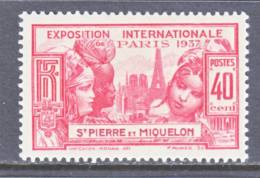 Saint Pierre And Miquelon  167  *  PARIS  EXPO. - Unused Stamps