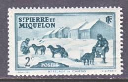 Saint Pierre And Miquelon  172   *  DOG  SLED - Unused Stamps