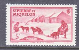 Saint Pierre And Miquelon  175   *   DOG  SLED - Unused Stamps