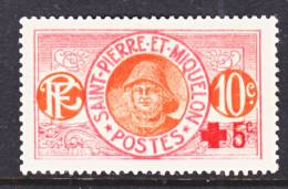 Saint Pierre And Miquelon  B 1   *    RED  CROSS - Unused Stamps