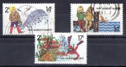 New Zealand 1980 Health - Fishing Set Of 3 Used - New Zealand
