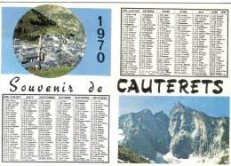 Carte Postale 65. Cauterets Calendrier 1970 Trés Beau Plan - Cauterets
