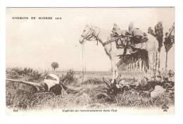 CPA Croquis De Guerre, Algérien En Reconnaissance Dans L'Est : Soldat Algérien Couché Avec Un Fusil  Cheval Arnaché - Guerre 1914-18