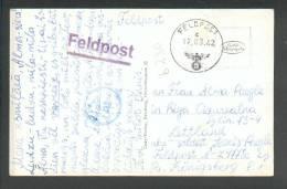 1942  FELDPOST  CENSOR  KÖNIGSBERG  PRUSSIA  TO  LATVIA  RIGA , POSTCARD  HOTEL KURHAUS EINTRACHT WOLFENSCHIESSEN - Allemagne