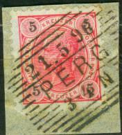 Vollstempel  PERG  Briefstück 5 Kreuzer - Gebraucht