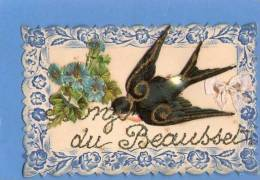 83 LE BEAUSSET  VAR  SOUVENIR CARTE AVEC CHROMOS HIRONDELLE - Le Beausset