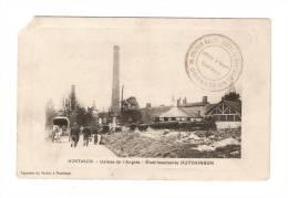 CPA :45 - Loiret : Montargis : Usines De L'Anglée : Etablissement Hutchinson - Tampon : Station Halte Repas Montargis - - Montargis