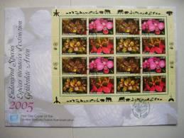 UNO-Wien 435/8 KB-FDC, Gefährdete Arten, Orchideen 2005 Auf Genfer-Cachet - Wenen - Kantoor Van De Verenigde Naties