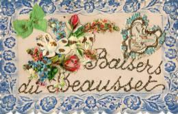 83 LE BEAUSSET  VAR  SOUVENIR CARTE AVEC CHROMOS COEUR BAISERS - Le Beausset