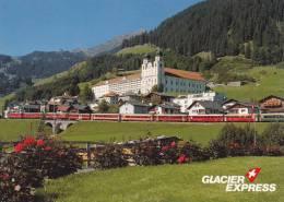 DER GLACIER EXPRESS BEI DISENTIS   TRAIN  ZUG - GR Grisons