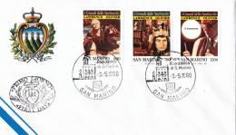 B02  Enveloppe FDC De San Marino - Du 03-05-1990 - FDC