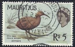 Mauritius 1965 Birds Aves Oiseaux Vegels - Mauritius Red Rail - Aphanapteryx Bonasia Canc - Marine Web-footed Birds