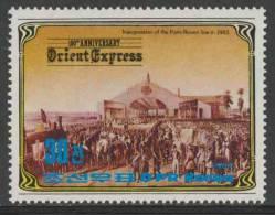 """Korea North 1984 Mi 2493 ** Inauguration Of Paris-Rouen Line (1843) / Eisenbahnlinie - """"Orient Express"""" - Treinen"""
