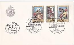 B02  Enveloppe FDC De San Marino - Du 09-12-1988 - FDC
