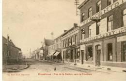 Erquelinnes - Rue De La Station, Vers La Frontière - Hôtel Du Midi - 1922 ( Voir Verso ) - Erquelinnes