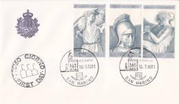 B02  Enveloppe FDC De San Marino - Du 10-07-1981 - FDC