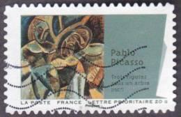 """Oblitération Moderne Sur Autoadhésif De France N°  702 Art - Peinture - Cubisme P. Picasso """" Trois Figures Sous Un Arbre - France"""