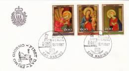 B02  Enveloppe FDC De San Marino - Du 12-11-1987 - FDC