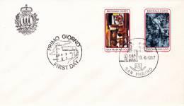 B02  Enveloppe FDC De San Marino - Du 13-06-1986 - FDC