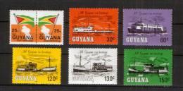 Guyana  976-82 ** Schiffe , Flagge // Ships (1983) - Boten