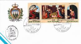 B02  Enveloppe FDC De San Marino - Du 17-11-1989 - FDC
