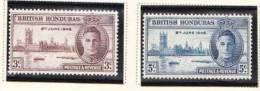 British Honduras, 1946, SG 162-3, Mint Hinged - Britisch-Honduras (...-1970)