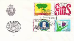 B02  Enveloppe FDC De San Marino - Du 19-09-1988 - FDC