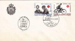 B02  Enveloppe FDC De San Marino - Du 20-04-1983- - FDC
