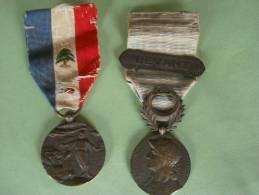 2 Médailles Liban Et Levant - France
