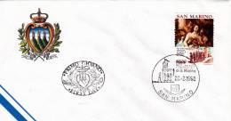 B02  Enveloppe FDC De San Marino - Du 22-02-1990 - FDC