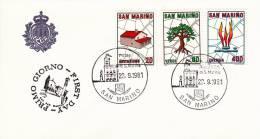B02  Enveloppe FDC De San Marino - Du 22-09-1981 - FDC