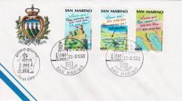 B02  Enveloppe FDC De San Marino - Du 23-03-1990 - FDC