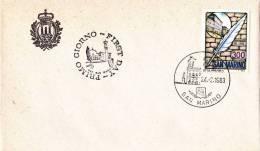 B02  Enveloppe FDC De San Marino - Du 24-02-1983 - FDC