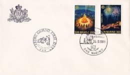 B02  Enveloppe FDC De San Marino - Du 24-03-1981 - FDC