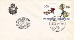 B02  Enveloppe FDC De San Marino - Du 27-04-1984 - FDC