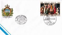 B02  Enveloppe FDC De San Marino - Du 31-10-1990 - FDC