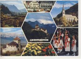 FL - VADUZ - Ansicht Gegen Süden - Zentrum - Pfarrkirche - Schloss Vaduz - 1988 - Liechtenstein