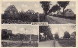 482/ Oude Kaart Kehrberg ( Pomm.), Partie Am Bahnhof, Kaufmann Wustrack, Siedlung, Dorfstrasse - Germany