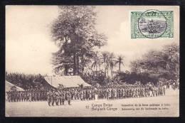 AFR-34 CONGO BELGE INSPECTION DE LA FORCE PUBLIQUE A IREBU - Congo - Kinshasa (ex Zaire)
