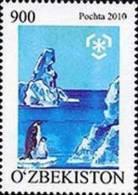Uzbekistan 2010 Protection Polar Regions & Glaciers Penguins 1v MNH NEW - Polar Philately