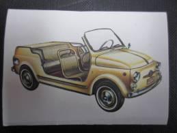 CHROMO (M33) LE MONDE DES AUTOS 1966 (2 Vues) N°140 Fiat 500 Jolly (Ghia) Chocolat Jacques - Jacques