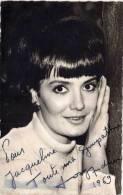 Josy ANDRIEUX - Chanteuse - Photo Dédicaée - Autographe 1969  (53220) - Personnes Identifiées