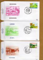 Enveloppe Brief Cover FDC 2096 à 2099 Hastières Landen Mouscron Torhout - FDC