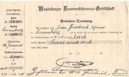 Luxembourg Facture Acquittée 1895 - Lussemburgo