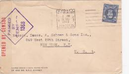 Enveloppe   Opened By Censor De Sydney Vers NY  USA   1942 - 1937-52 George VI