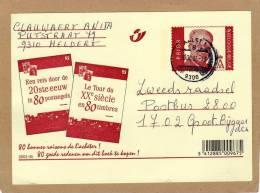Carte Entier Postal Stationary Ganzsache Card Postcard Le Tour Du XXe Siècle En 80 Timbres Aalst Groot Bijgaarden - Cartes Illustrées