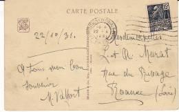 FRANCE Carte Postale Indochine Pavillon Du Cambodge 1931 Machine FLIER EXPOSITION COLONIALE INTERNATIONALE PARIS - Poststempel (Briefe)
