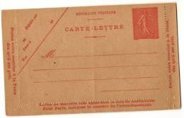 Entier Postal EP - Y 199 CL3 - Semeuse 50c Rouge - Neuf - Kaartbrieven