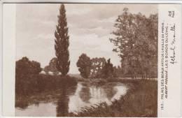 Très Peu Courante - 77 - Les Bords Du Loing (à Moret) - Carte Dédicacée Par Le Peintre Albert Moullé - Recto-verso - Moret Sur Loing
