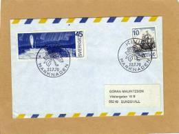 Enveloppe Brief Cover Aerogram Marknaden To Sundsvall - Suède